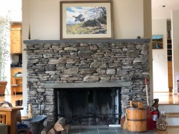 Pocono Bed and Breakfast stone fireplace in gallery