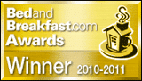 Bed and Breakfast Award Winner 2011